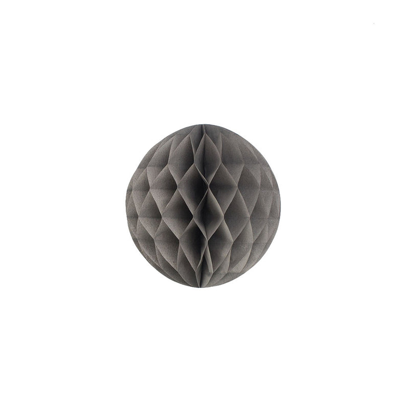 Grey 15cm Honeycomb Ball  Honeycomb Ball Hello Party Essentials - Hello Party
