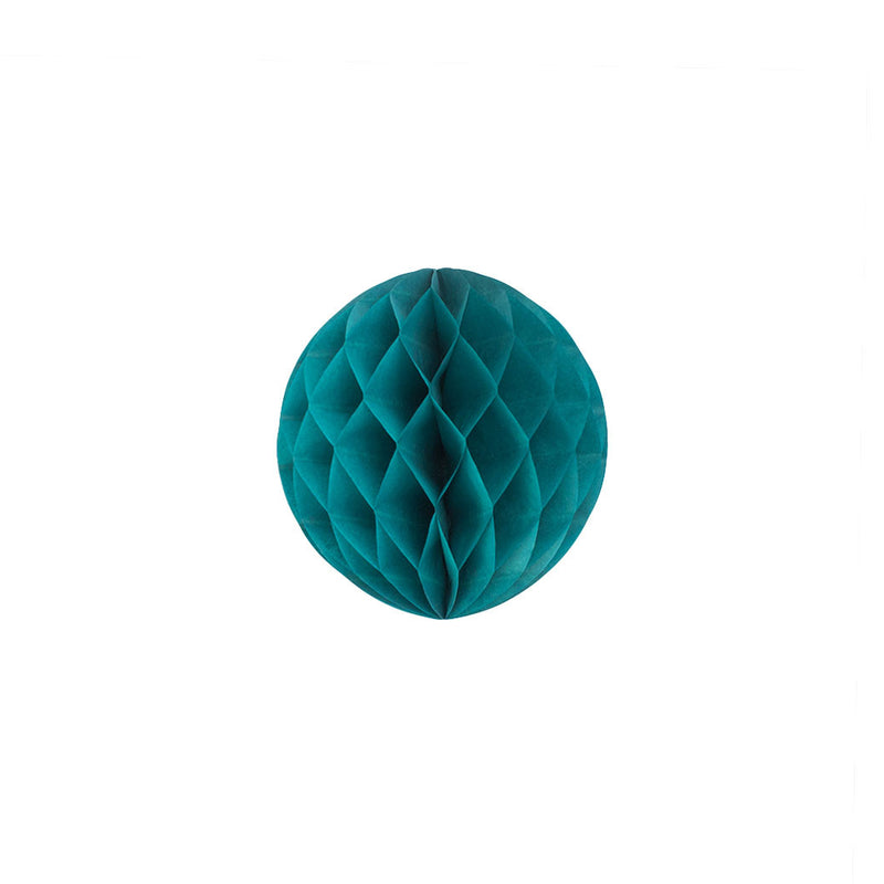 Teal 15cm Honeycomb Ball  Honeycomb Ball Hello Party Essentials - Hello Party