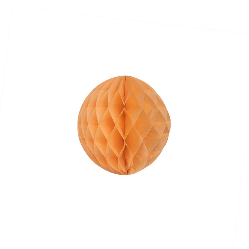 Peach 15cm Honeycomb Ball  Honeycomb Ball Hello Party Essentials - Hello Party