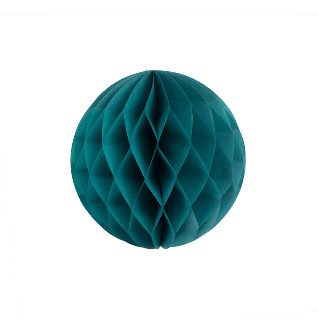 Teal 20cm Honeycomb Ball