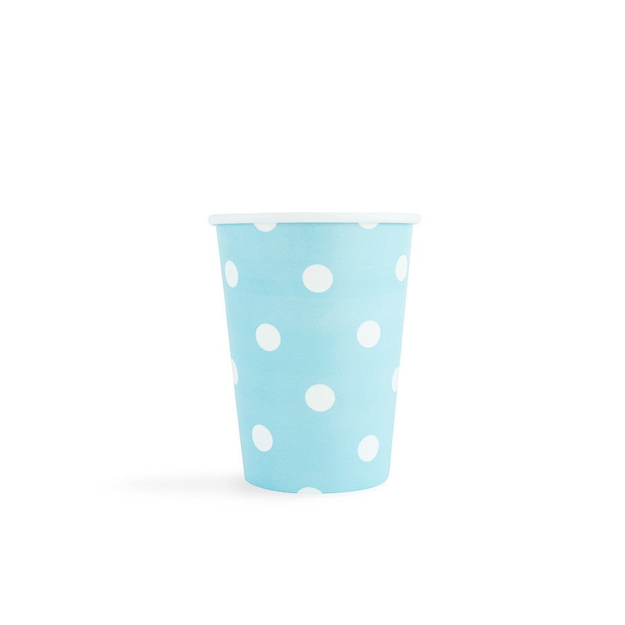 Light Blue with white spots Cups