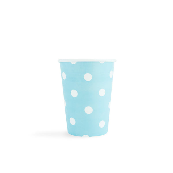 Light Blue with white spots Cups  Party Cups Hello Party - All you need to make your party perfect!  - Hello Party