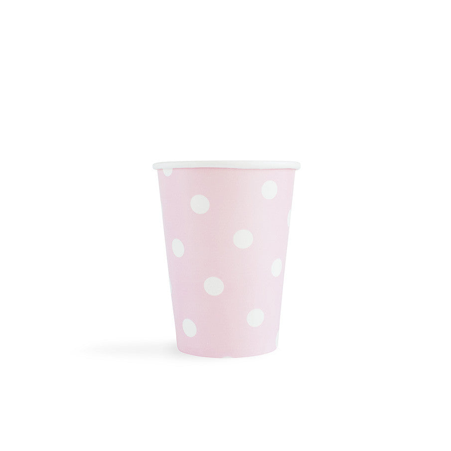 Light Pink with white spots Cups