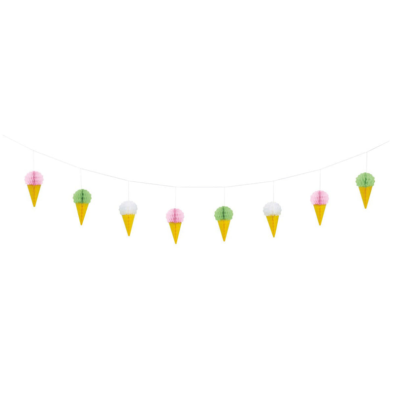 Ice Cream Honeycomb Garland  Honeycomb Garland Unique - Hello Party