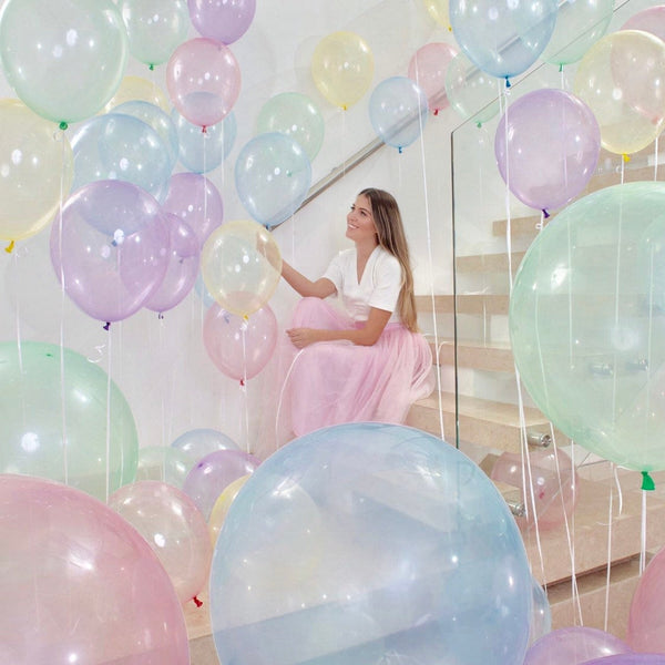 Pretty Pastel Crystal Party Balloons