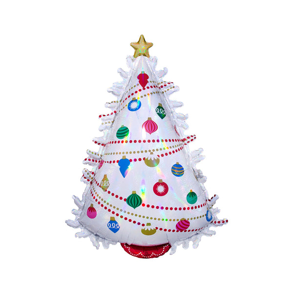 Iridescent Christmas Tree Foil Balloon