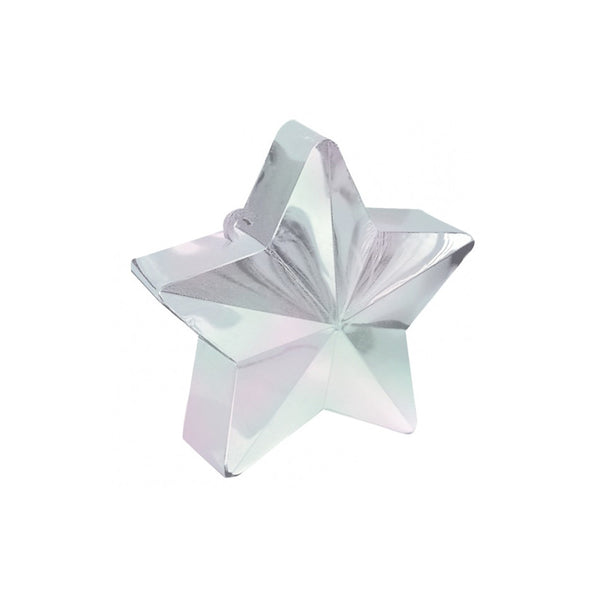 170g Iridescent Star Balloon Weight  Balloon Weights Hello Party - All you need to make your party perfect! - Hello Party