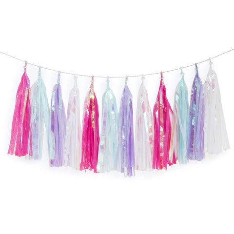 Iridescent Unicorn Tassel Garland