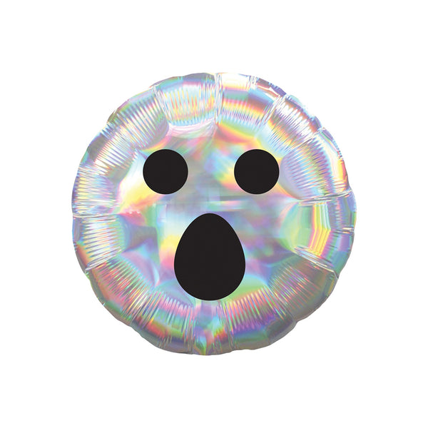 "Iridescent Ghost Face 18"" Foil Balloon"