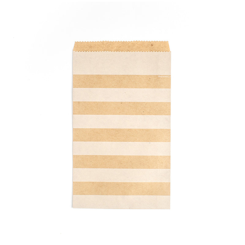 Medium Kraft Striped Paper Treat Bags  Party Bags HelloPartyUK - Hello Party
