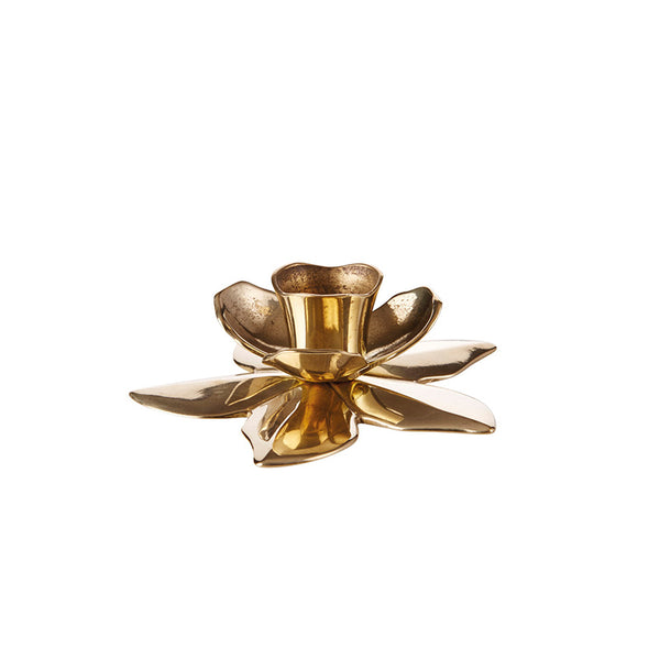 Brass Flower Candle Holder