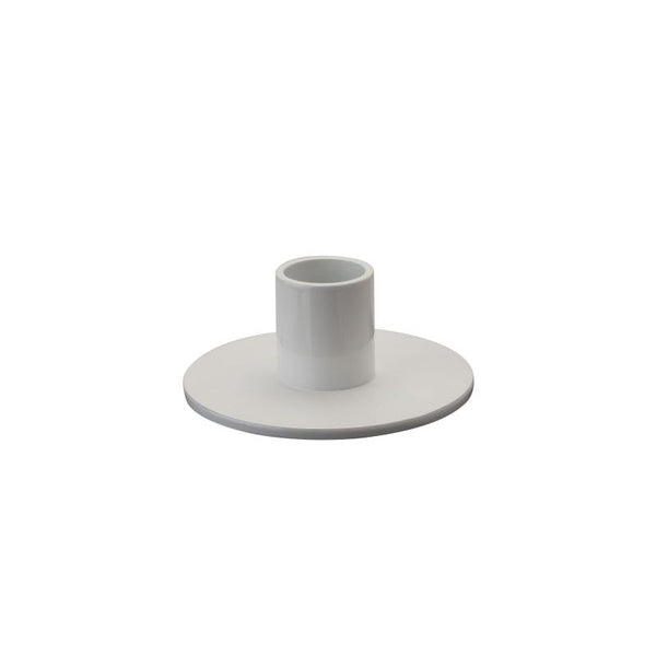 White Round Candle Holder