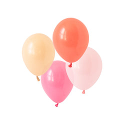 Coral Charm Mix Balloons (pack of 12)  Latex Balloon Collections Hello Party Essentials - Hello Party