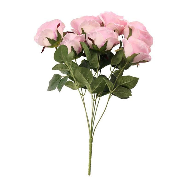 Bunch of Dusky Pink and Lavender Faux Roses  Faux Flowers Hello Party UK - Hello Party