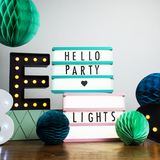 Baby Pink Wooden A5 Lightbox - Hello Party - All you need to make your party perfect!