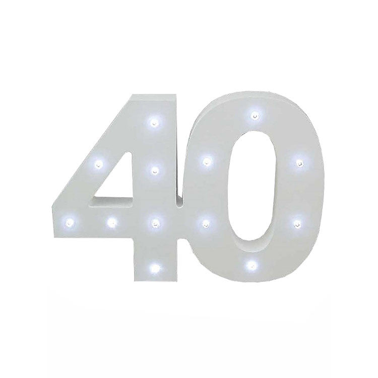 40 Light Up Numbers