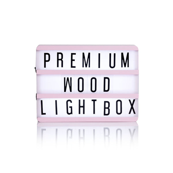 Baby Pink Wooden A5 Lightbox  Lights Ginger Snap - Hello Party