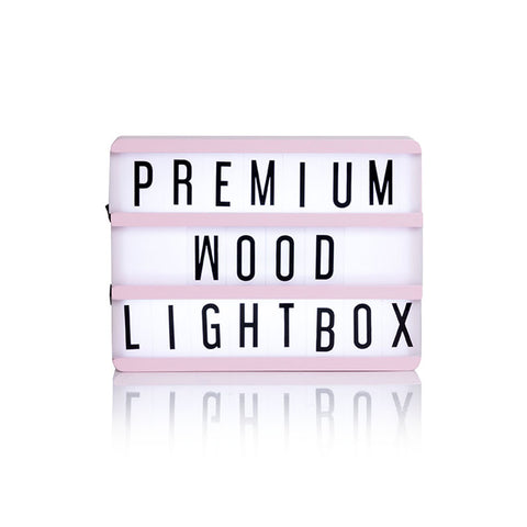 Baby Pink Wooden A5 Lightbox