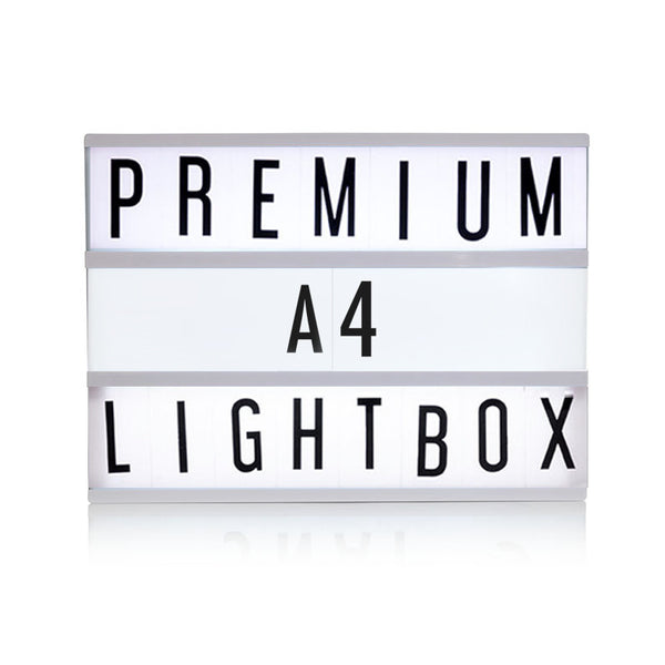 Premium A4 Black Cinematic Lightbox