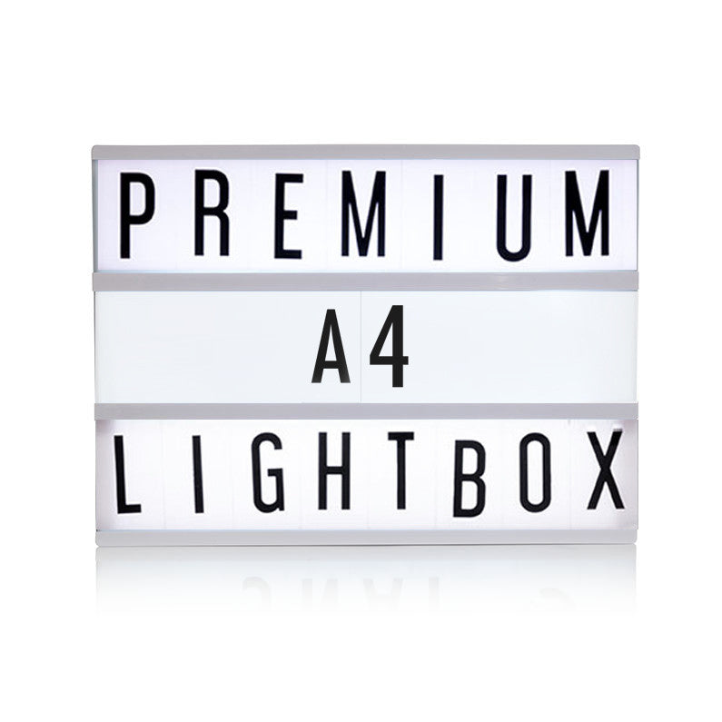 Premium A4 Black Cinematic Lightbox  Lights Ginger Snap - Hello Party
