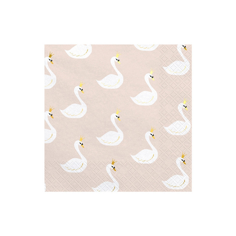 Lovely Swan Party Napkins
