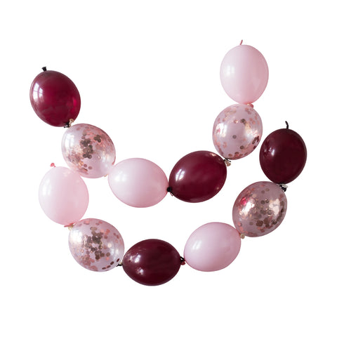 Burgundy Luxe Linkit Balloon Garland Kit  Balloon Garland Kits Hello Party Essentials - Hello Party