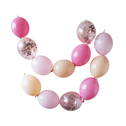 Rose Blush Luxe Linkit Balloon Garland Kit  Balloon Garland Kits Hello Party Essentials - Hello Party