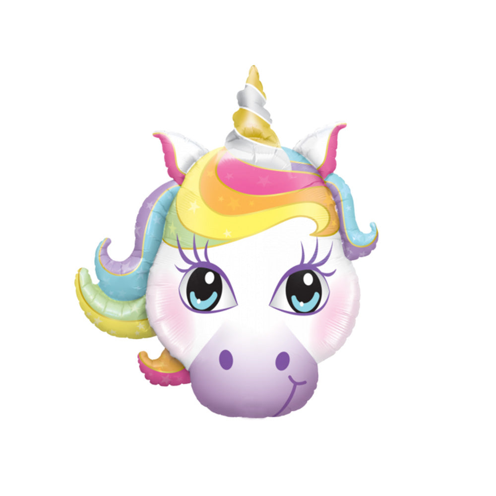 "Cute Magical Unicorn Head Foil Balloon (38"")  Balloons Hello Party - All you need to make your party perfect! - Hello Party"