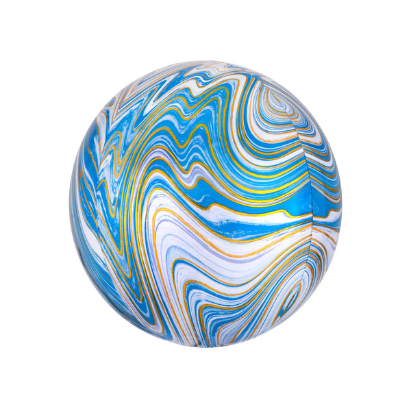 Blue Marble Orbz Balloon  orb balloon Anagram - Hello Party
