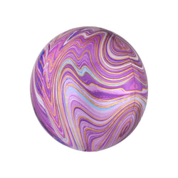 Purple Marble Orbz Balloon  orb balloon Anagram - Hello Party