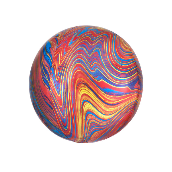 Colourful Marble Orbz Balloon  orb balloon Anagram - Hello Party