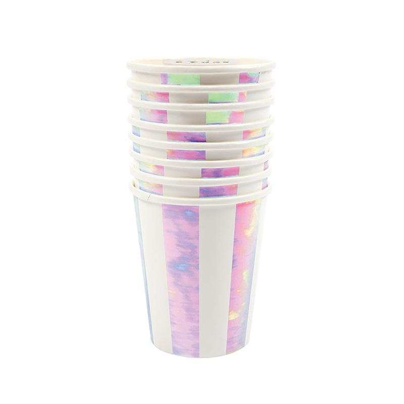 Iridescent Striped Cups  Party Cups Meri Meri - Hello Party