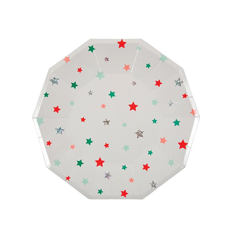 Star Pattern Large Plates  Party Plates Meri Meri - Hello Party