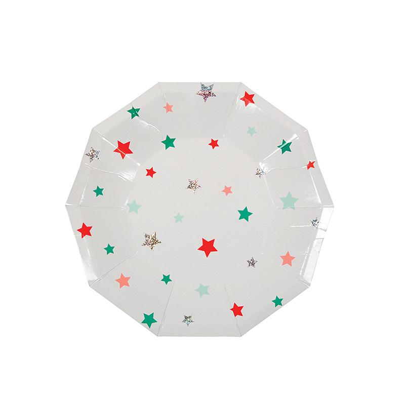 Star Pattern Small Plates  Party Plates Meri Meri - Hello Party
