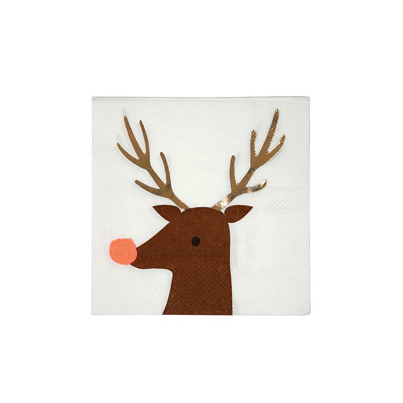 Small Reindeer Napkins  Napkins Meri Meri - Hello Party