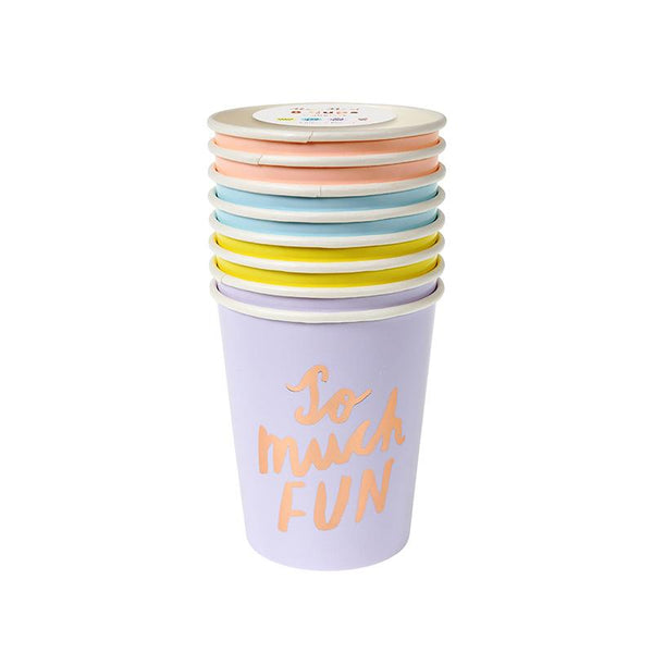 Typographic Party Cups  Party Cups Meri Meri - Hello Party