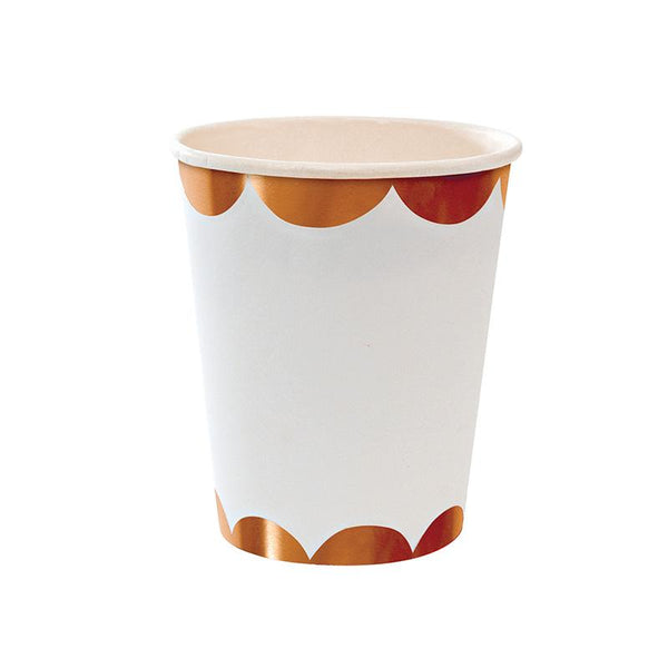 Rose Gold Scalloped Cup  Party Cups Meri Meri - Hello Party