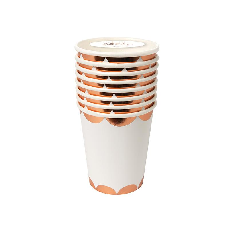 Meri Meri Rose Gold Scalloped Cup