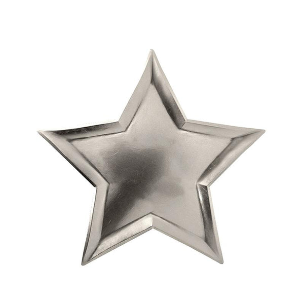 Meri Meri Silver Star Shaped Plates