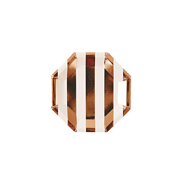 Meri Meri Rose Gold Small Striped Plate