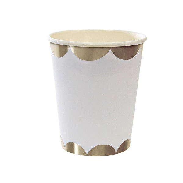 Meri Meri Gold Scallop Party Cup