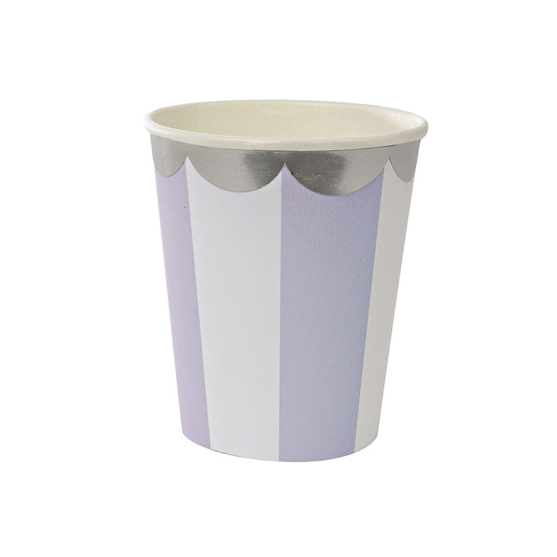 Lavender Striped Cup  Party Cups Meri Meri - Hello Party