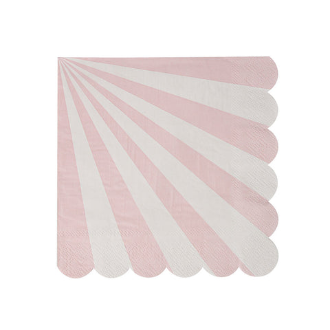Dusty Pink Striped Napkins  Napkins Meri Meri - Hello Party