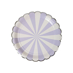 Lavender Striped Plates  Party Plates Meri Meri - Hello Party