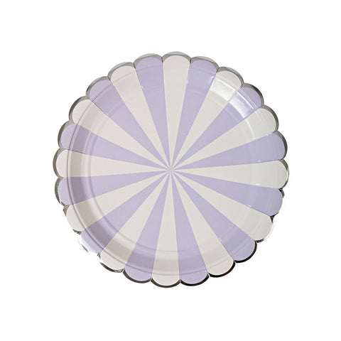 Lavender Striped Plates