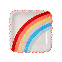 Rainbow Plates  Party Plates Meri Meri - Hello Party