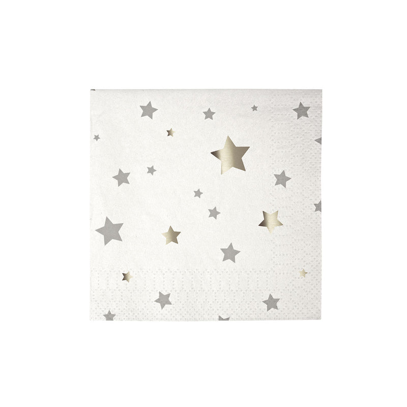 Toot Sweet Silver Star Small Napkins  Napkins Meri Meri - Hello Party
