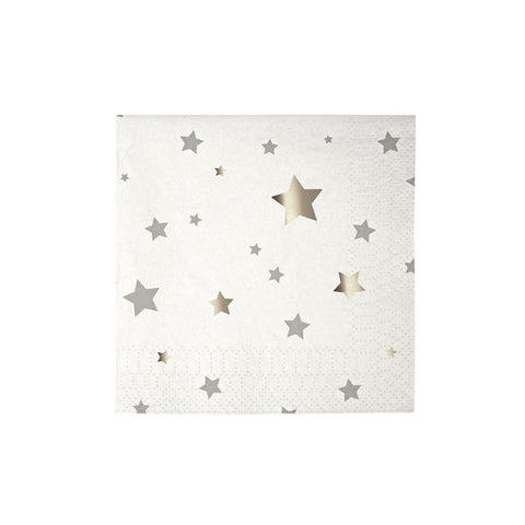 Toot Sweet Silver Star Small Napkins