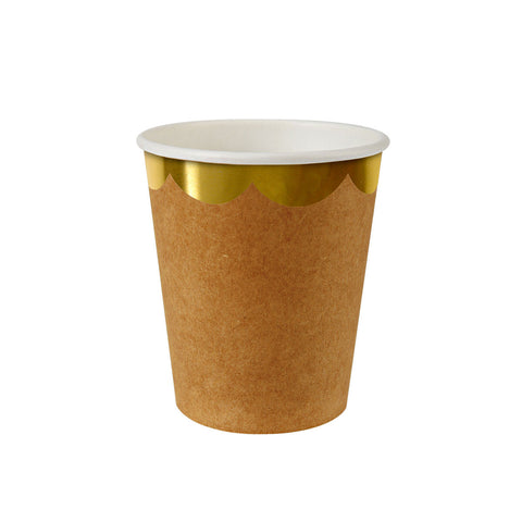 Natural Scollop Edge Party Cups