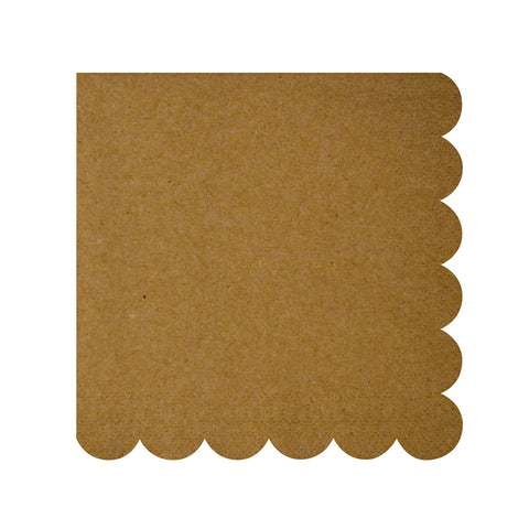 Natural Scollop Edge Napkins